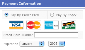 wide credit card blank