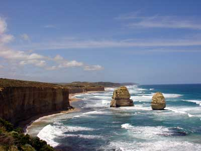 Twelve Apostles, as seen looking west on viewing platform