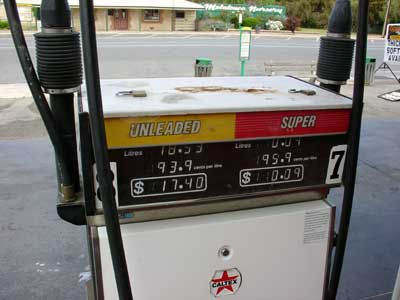 Fuel pump, with unleaded and super