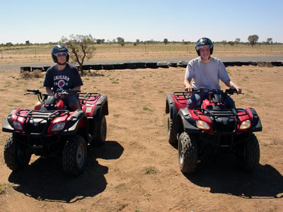Tom and I on our trusty steeds